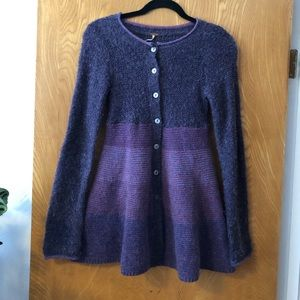 Free people button up ombré sweater dress S